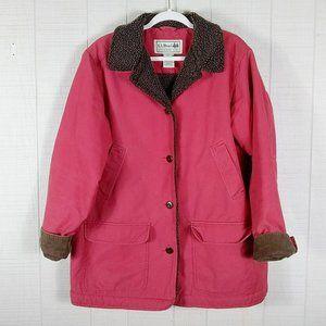 L.L. Bean Sherpa Lined Barn Coat Jacket Red